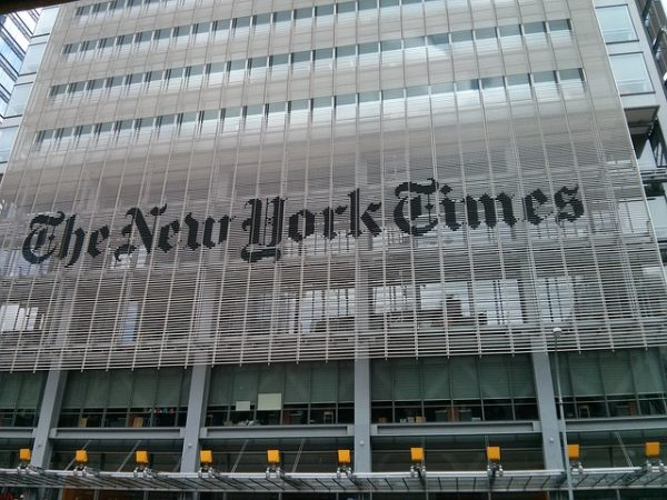 New York Times office building in New York City