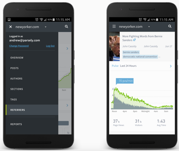 Parsely on mobile