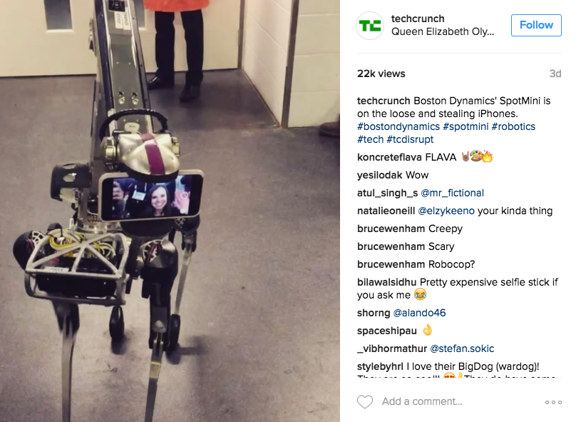 TechCrunch Instagram posts, engagement, Parse.ly