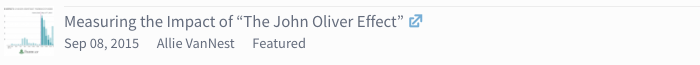 """article icon - Measuring the Impact of """"The John Oliver Effect"""""""