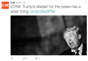tweet by Columbia Journalism Review