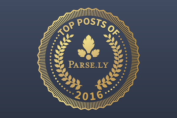 Parse.ly, top posts, awards, badge, traffic