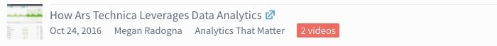 video icon - How Ars Technica Leverages Data Analytics