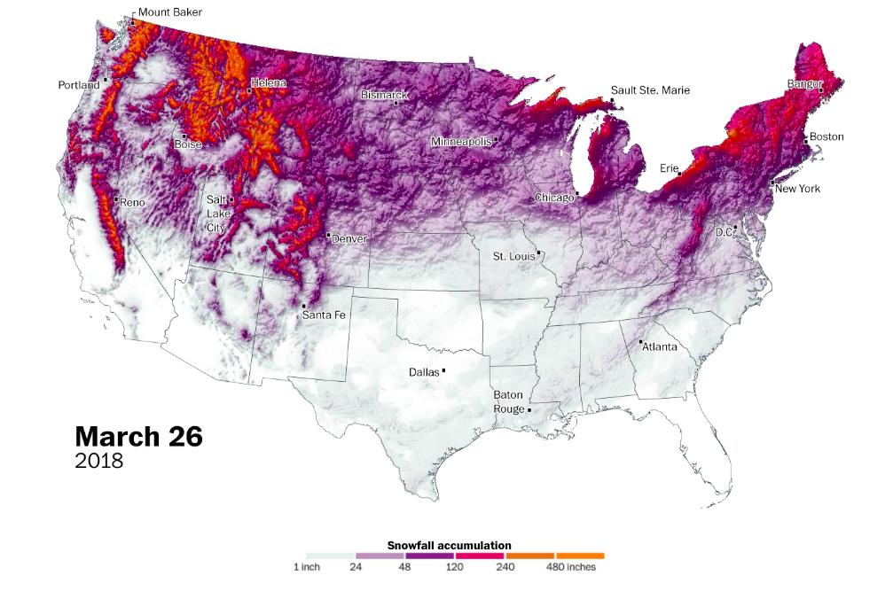 snowfall in 2018
