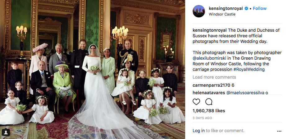the royal family official wedding portrait