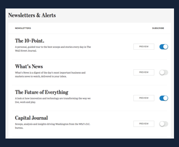 Email-newsletter-strategy-wsj